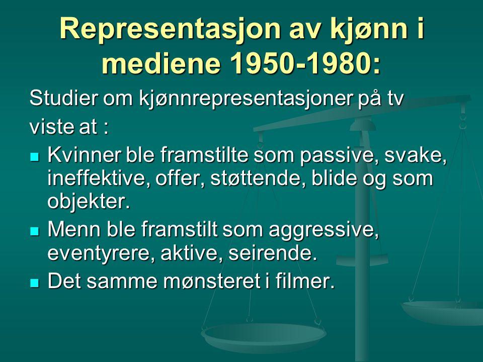 Representasjon av kjønn i mediene 1950-1980: