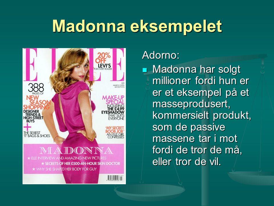 Madonna eksempelet Adorno: