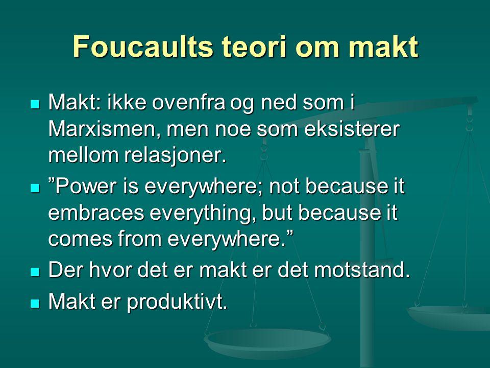 Foucaults teori om makt