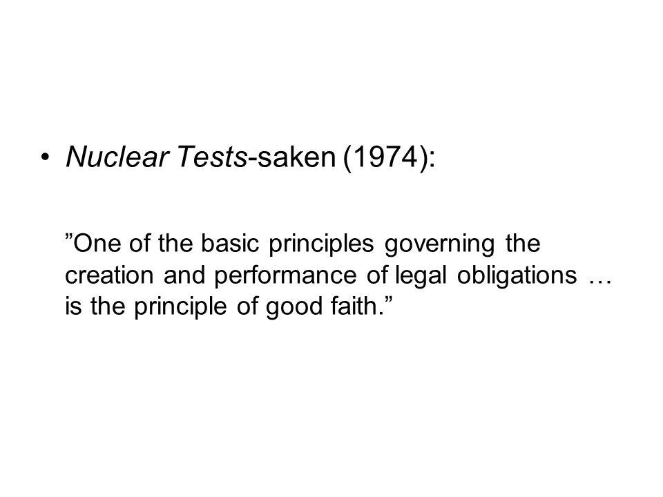 Nuclear Tests-saken (1974):