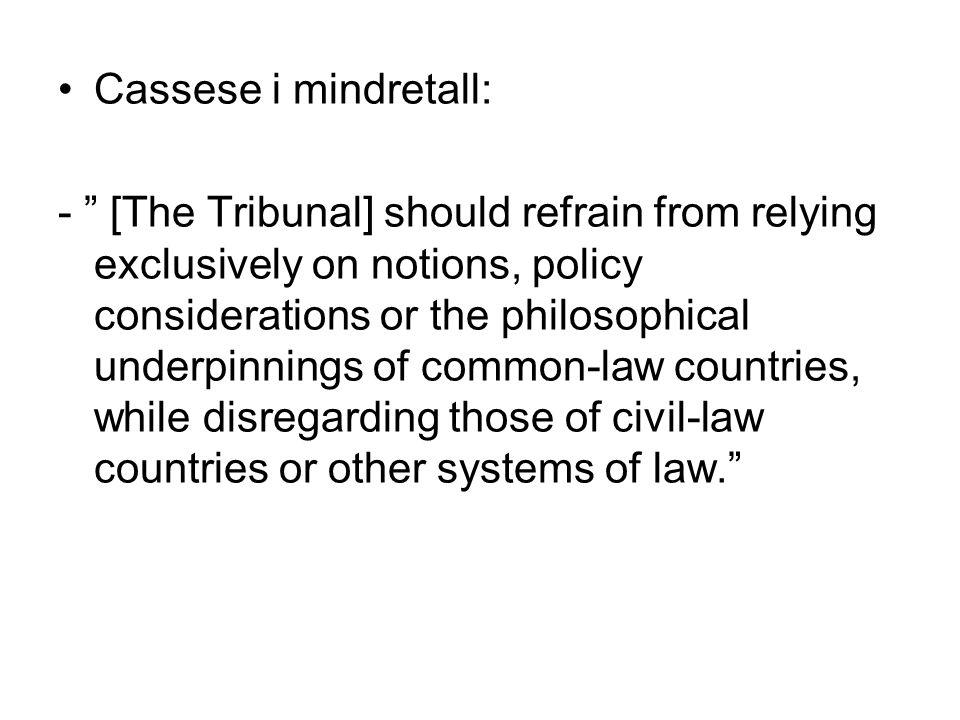 Cassese i mindretall: