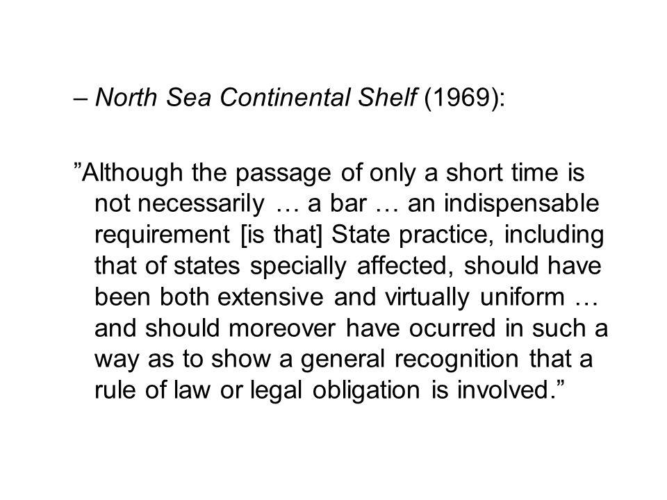 North Sea Continental Shelf (1969):
