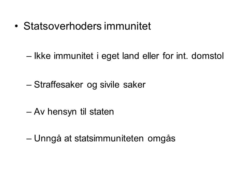 Statsoverhoders immunitet