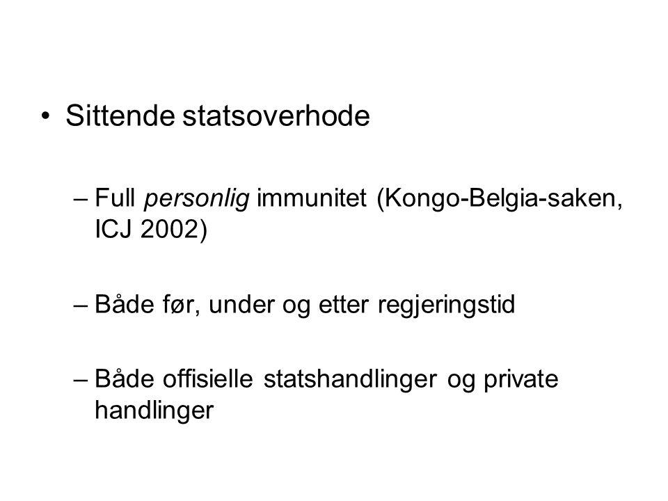 Sittende statsoverhode