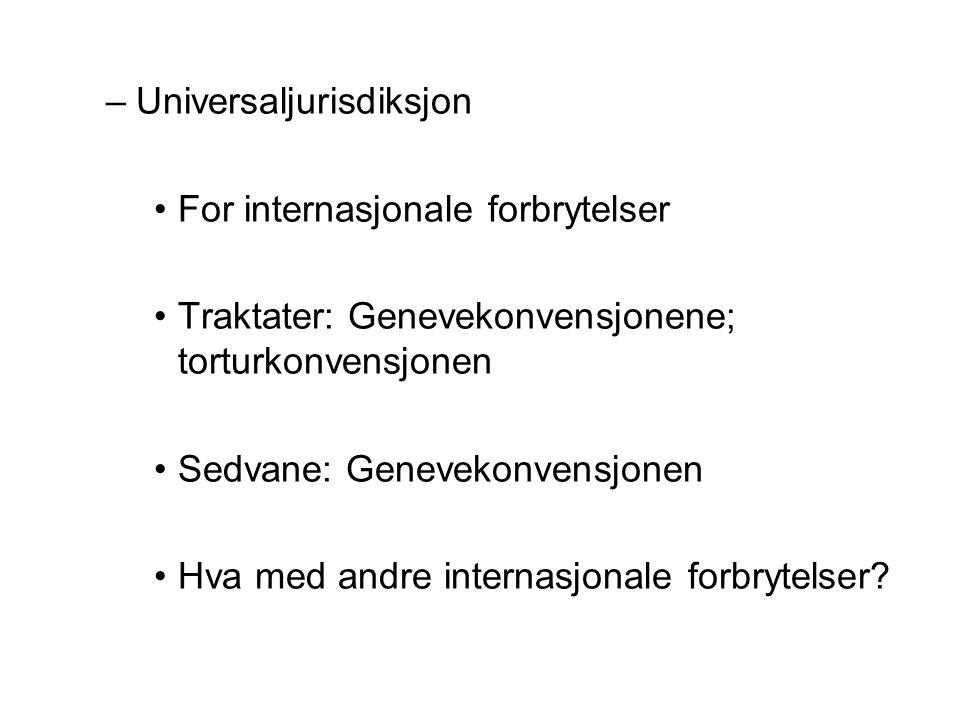 Universaljurisdiksjon