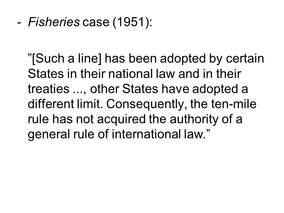 Fisheries case (1951):