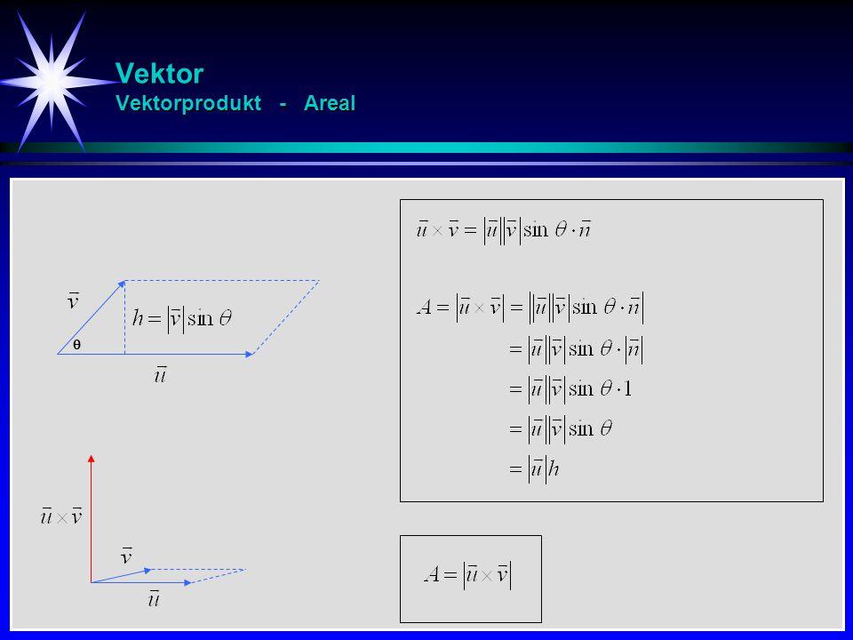Vektor Vektorprodukt - Areal