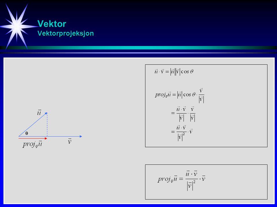 Vektor Vektorprojeksjon