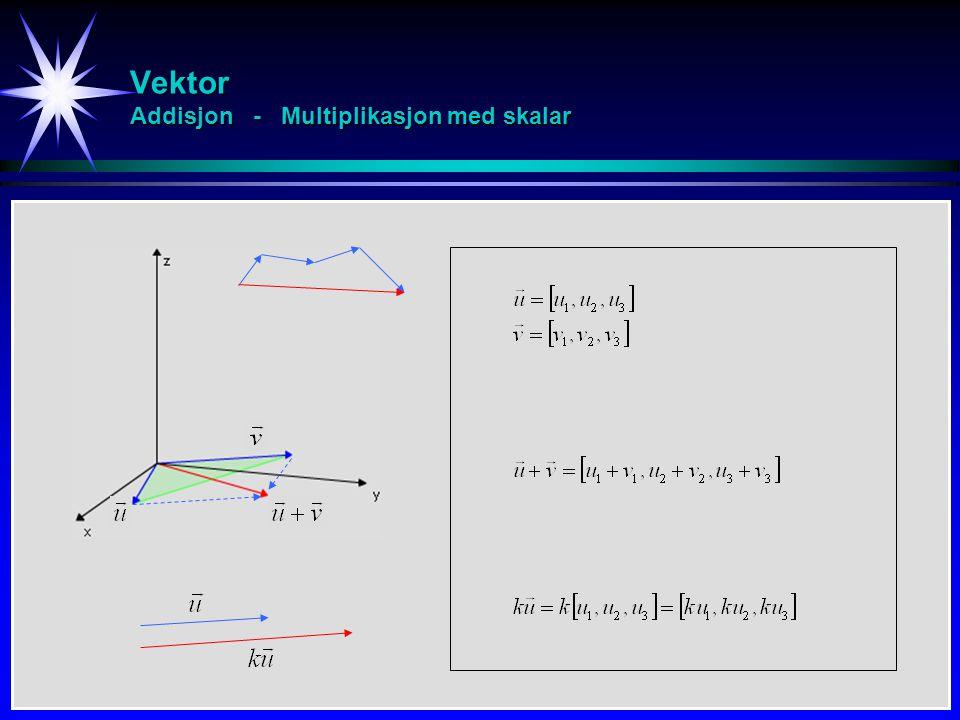 Vektor Addisjon - Multiplikasjon med skalar