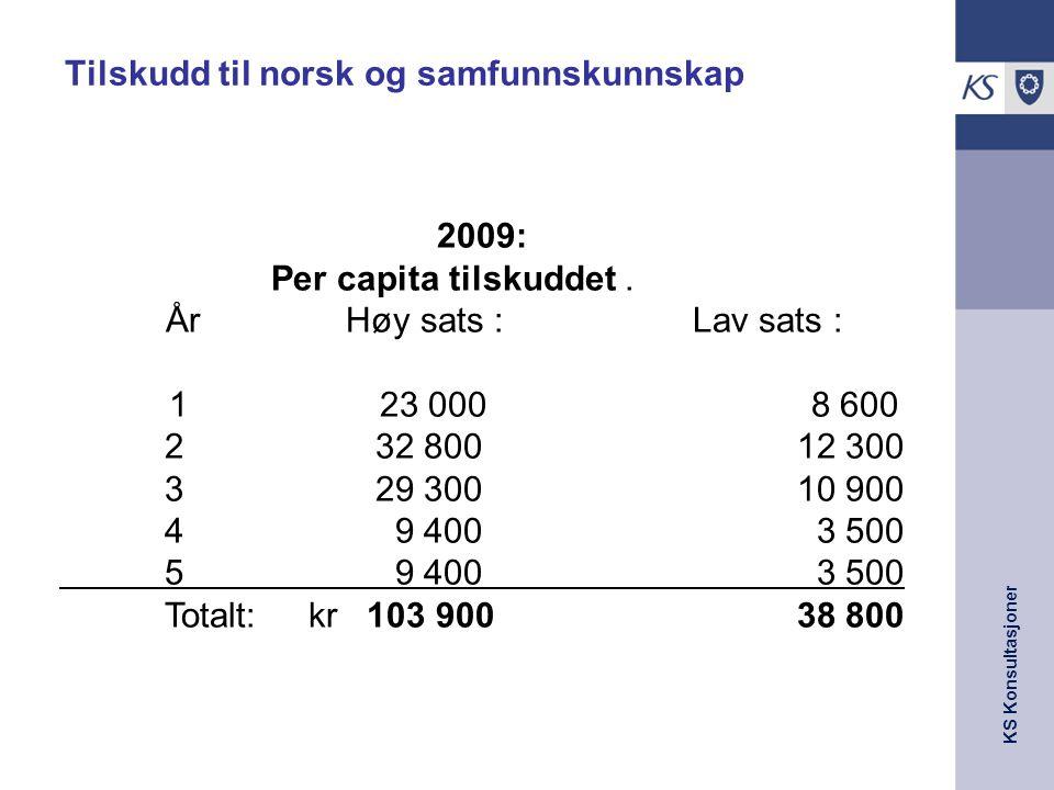 Tilskudd til norsk og samfunnskunnskap