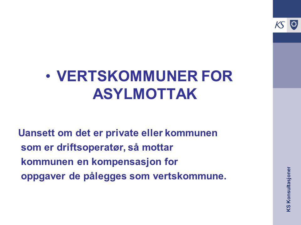VERTSKOMMUNER FOR ASYLMOTTAK