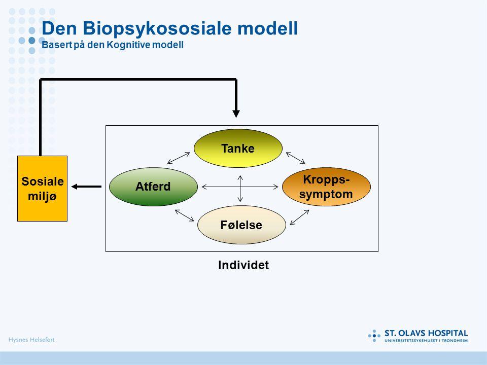 Den Biopsykososiale modell Basert på den Kognitive modell