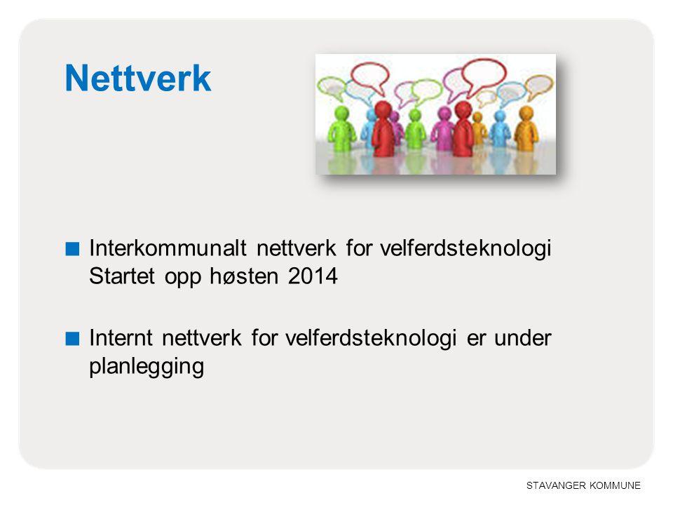 Nettverk Interkommunalt nettverk for velferdsteknologi Startet opp høsten 2014.