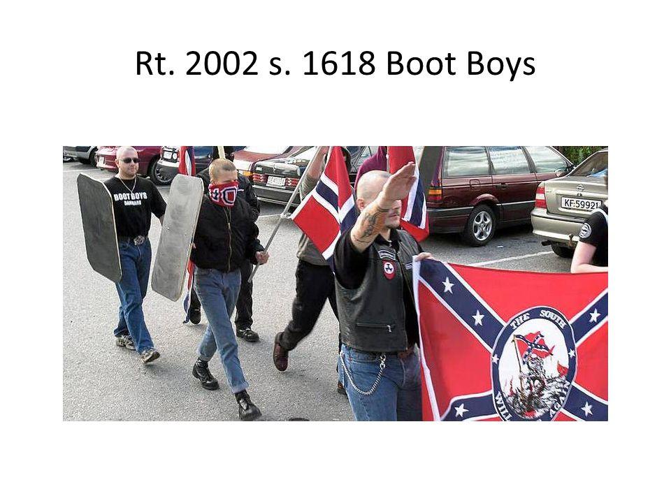 Rt. 2002 s. 1618 Boot Boys