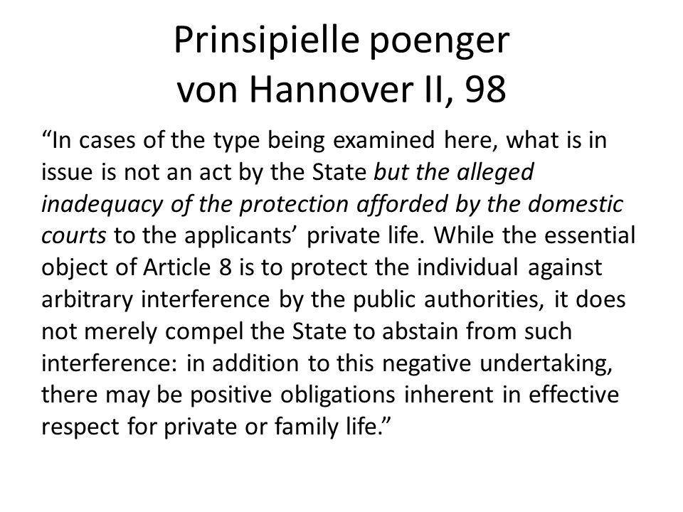 Prinsipielle poenger von Hannover II, 98