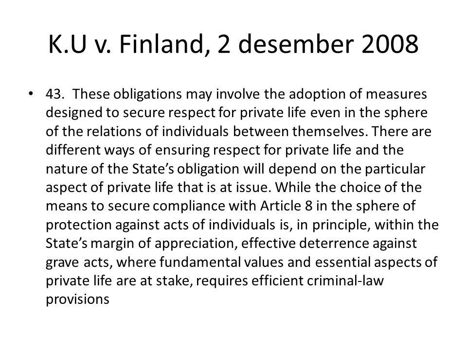 K.U v. Finland, 2 desember 2008