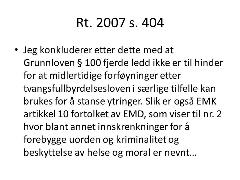 Rt. 2007 s. 404