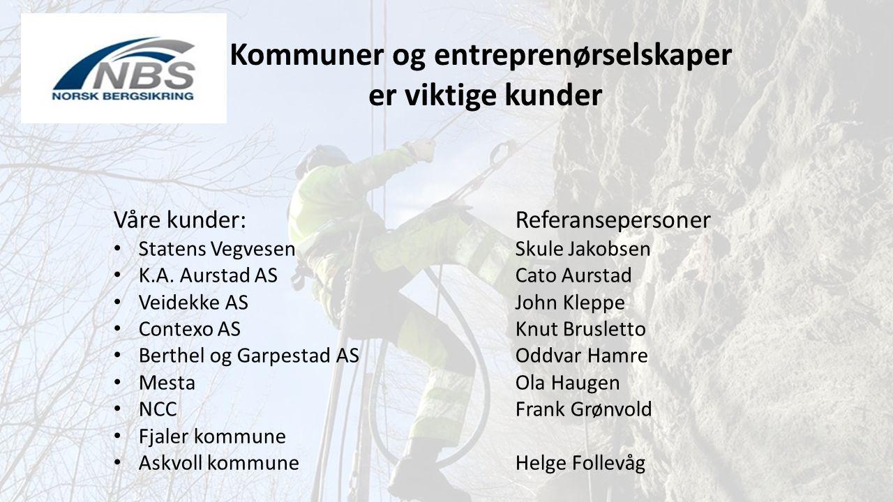 Kommuner og entreprenørselskaper