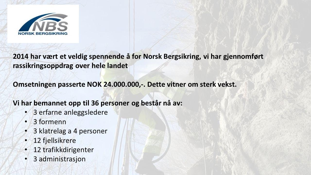 2014 har vært et veldig spennende å for Norsk Bergsikring, vi har gjennomført