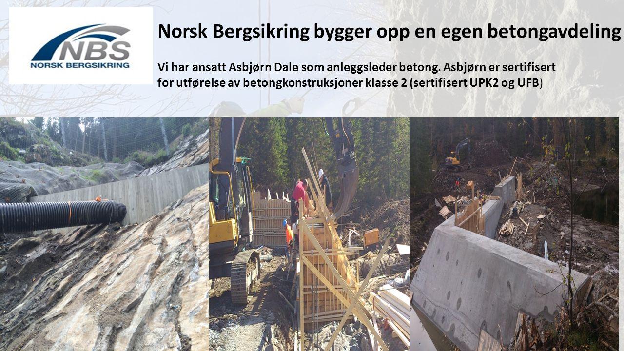 Norsk Bergsikring bygger opp en egen betongavdeling