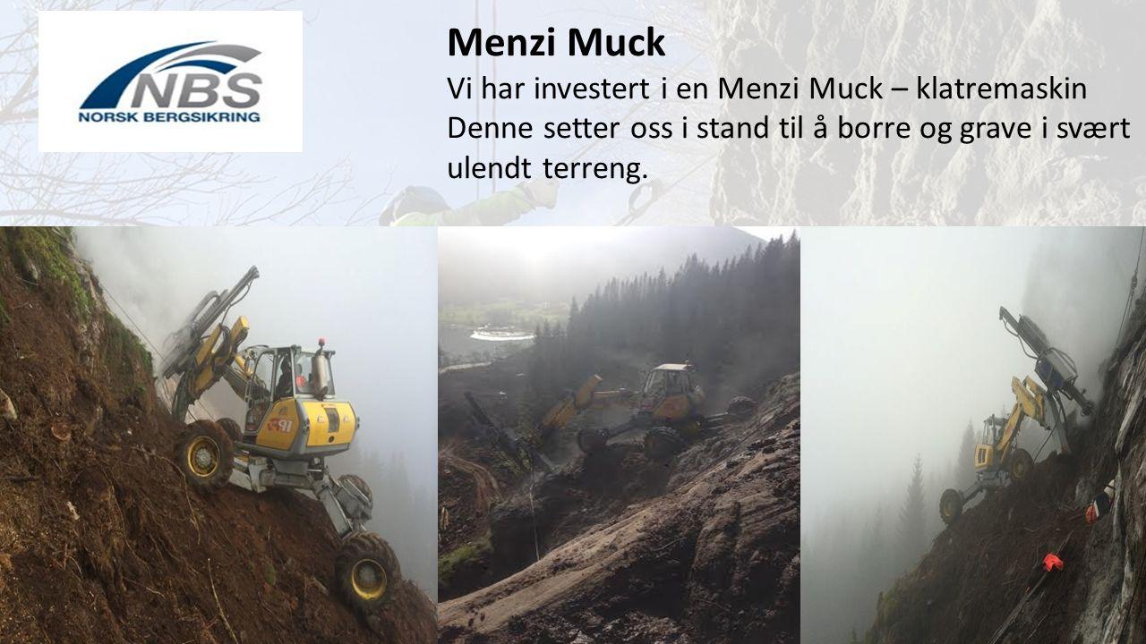 Menzi Muck Vi har investert i en Menzi Muck – klatremaskin