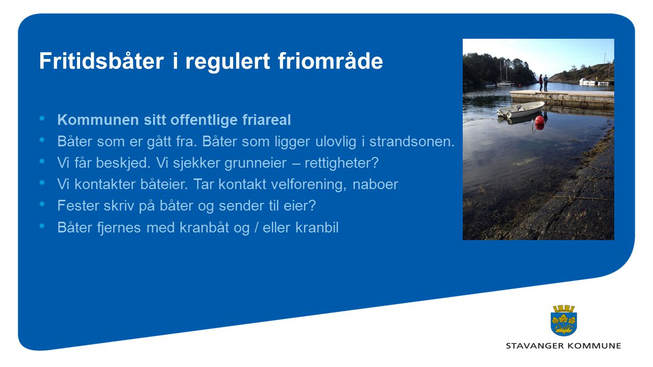 Fritidsbåter i regulert friområde
