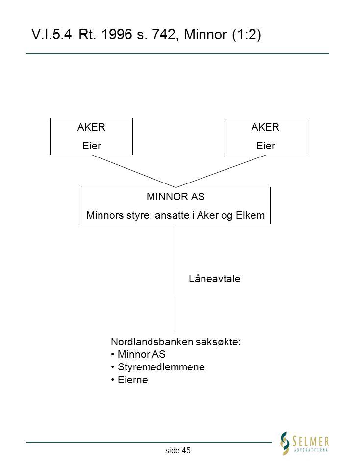 Minnors styre: ansatte i Aker og Elkem