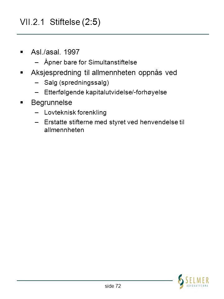 VII.2.1 Stiftelse (2:5) Asl./asal. 1997