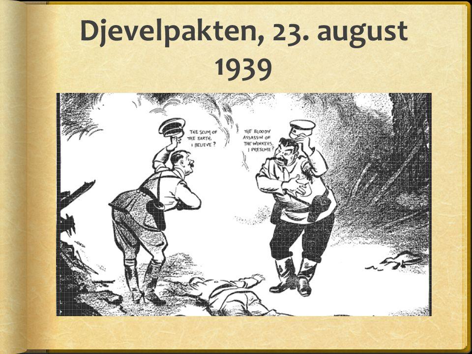 Djevelpakten, 23. august 1939