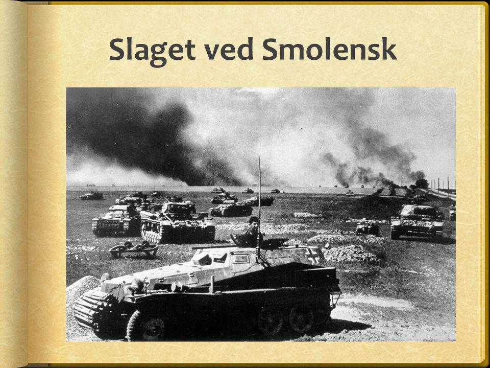 Slaget ved Smolensk 16. Juli falt Smolensk. Veien til Moskva var egentlig åpen