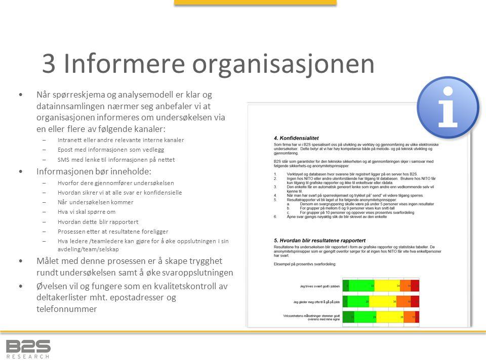 3 Informere organisasjonen