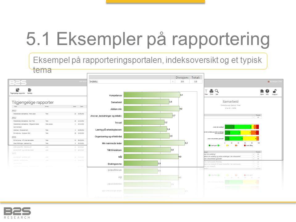 5.1 Eksempler på rapportering