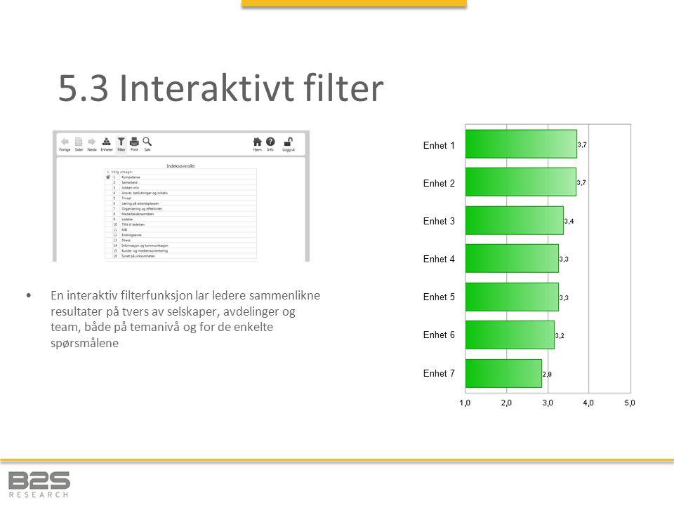 5.3 Interaktivt filter Enhet 1. Enhet 3. Enhet 4. Enhet 5. Enhet 6. Enhet 7. Enhet 2.