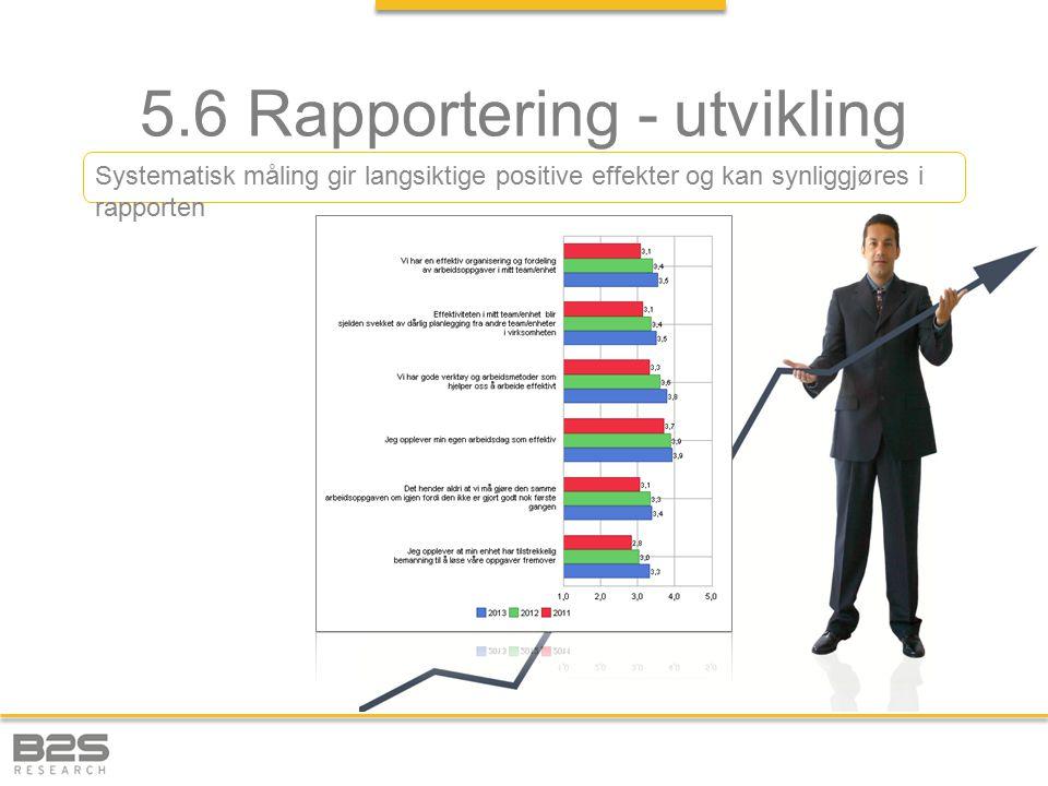 5.6 Rapportering - utvikling