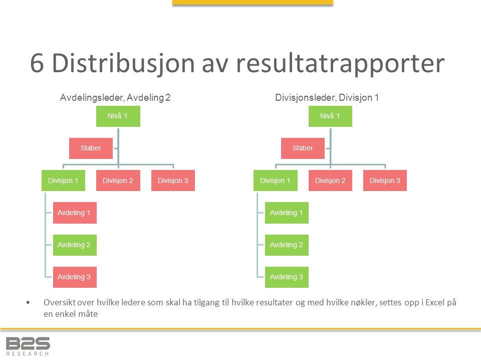 6 Distribusjon av resultatrapporter
