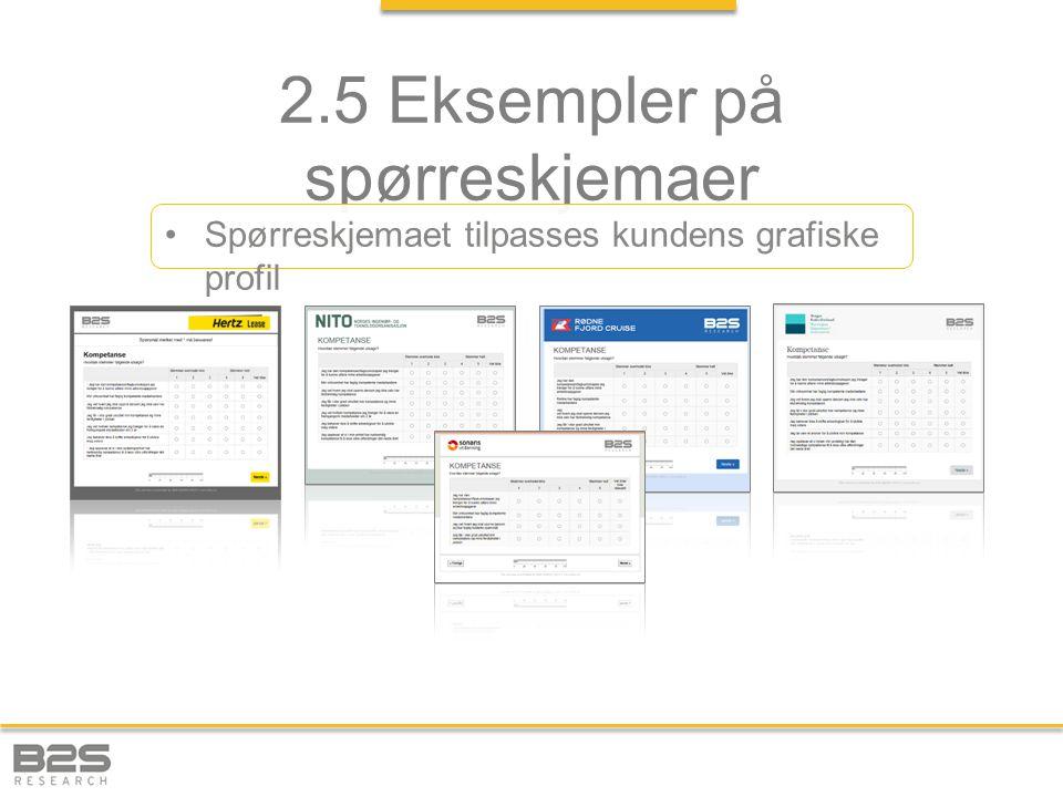 2.5 Eksempler på spørreskjemaer