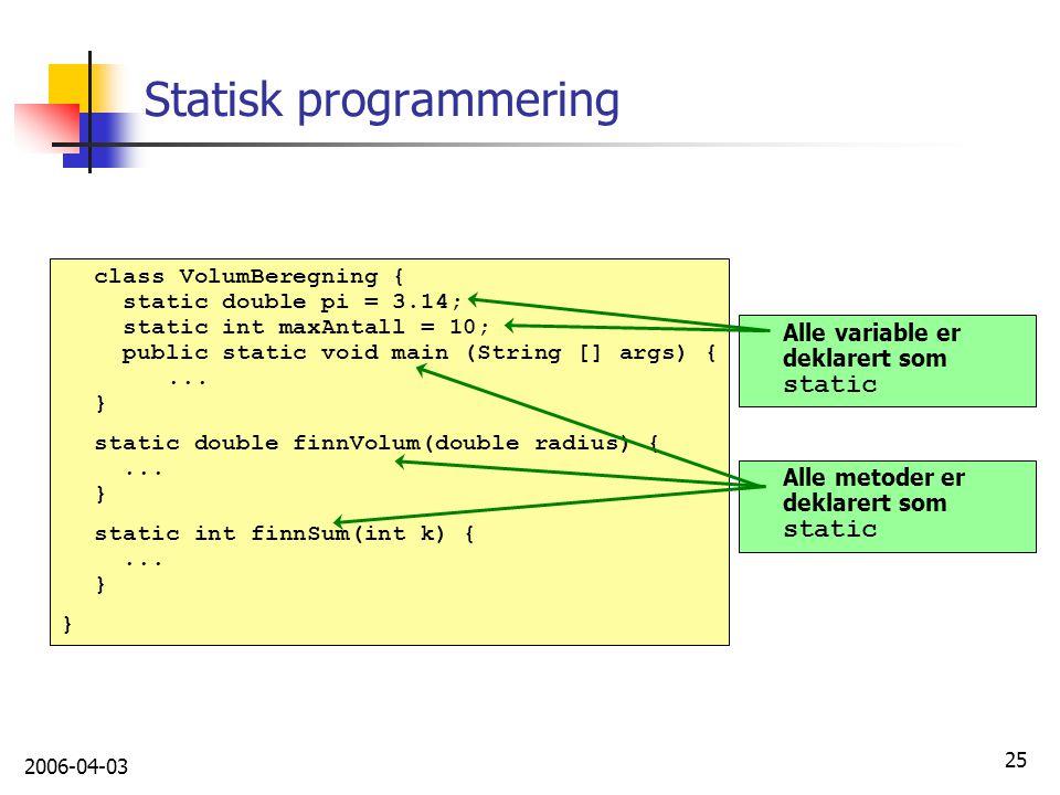 Statisk programmering