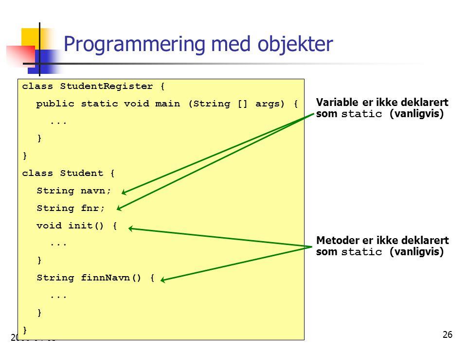 Programmering med objekter