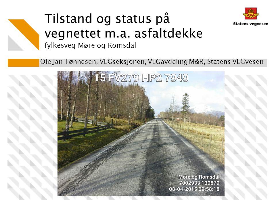 Ole Jan Tønnesen, VEGseksjonen, VEGavdeling M&R, Statens VEGvesen