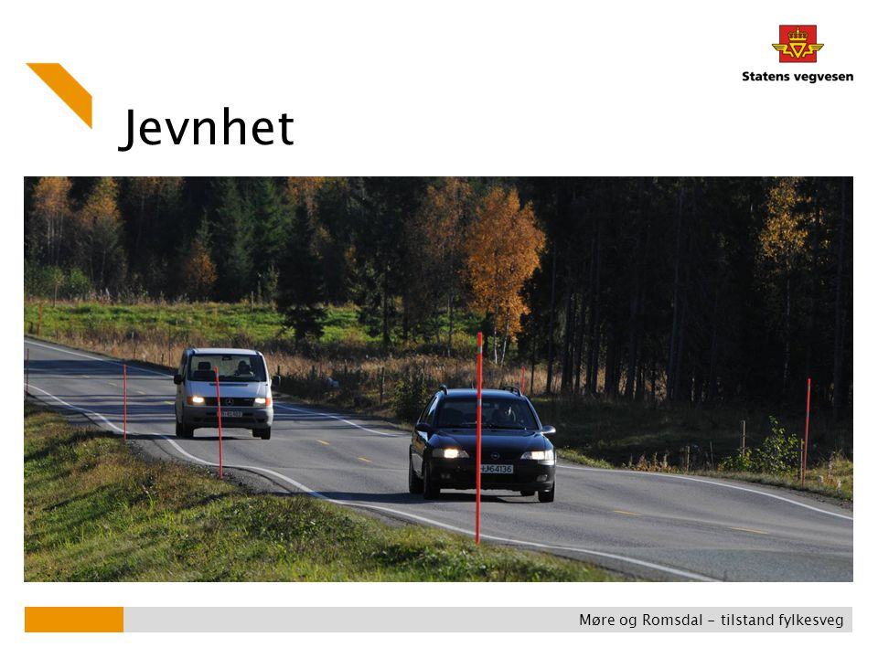 Jevnhet Møre og Romsdal - tilstand fylkesveg