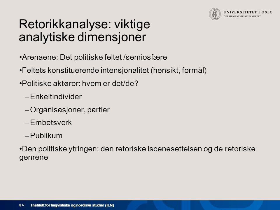 Retorikkanalyse: viktige analytiske dimensjoner
