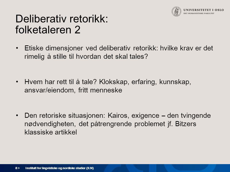 Deliberativ retorikk: folketaleren 2