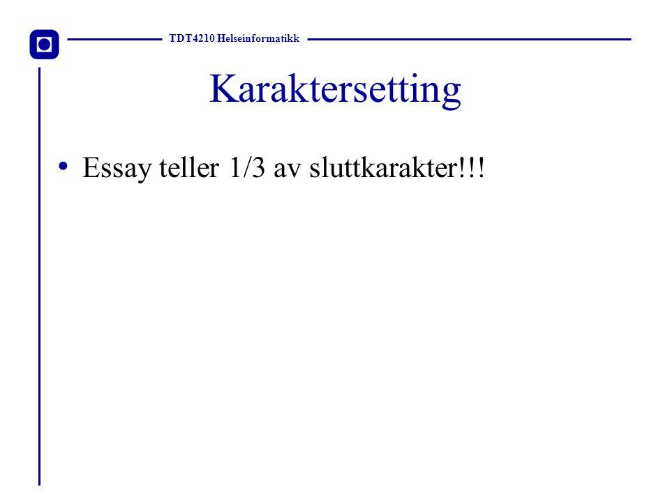 Karaktersetting Essay teller 1/3 av sluttkarakter!!!