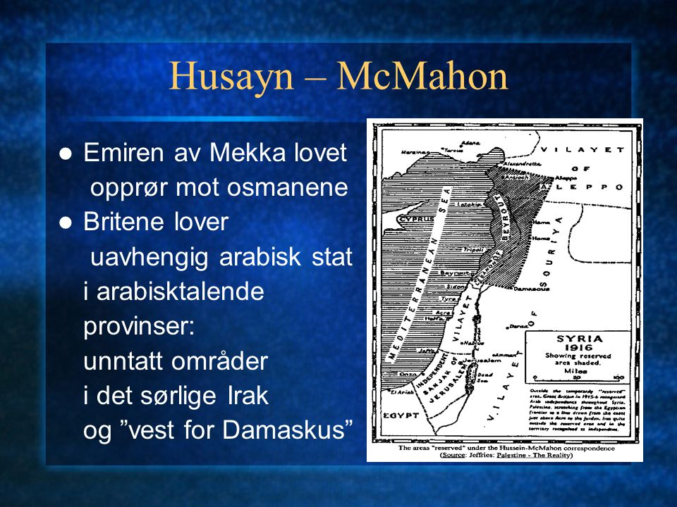 Husayn – McMahon Emiren av Mekka lovet opprør mot osmanene