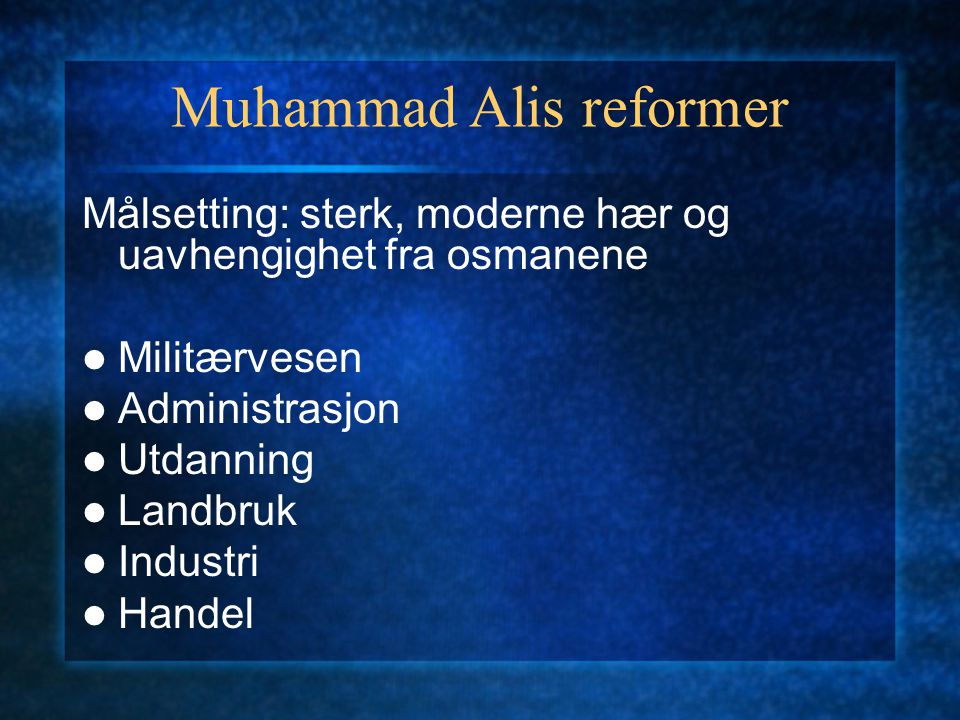 Muhammad Alis reformer