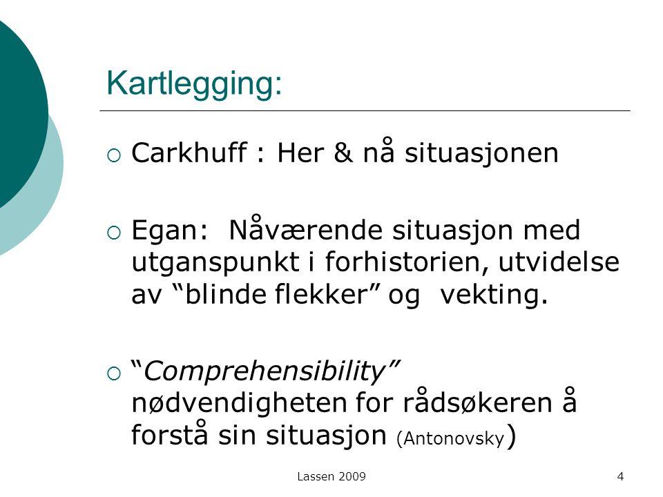 Kartlegging: Carkhuff : Her & nå situasjonen