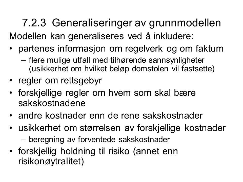7.2.3 Generaliseringer av grunnmodellen