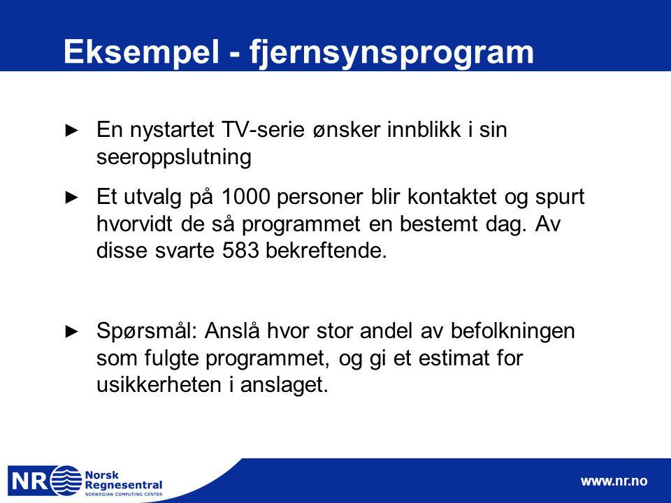 Eksempel - fjernsynsprogram