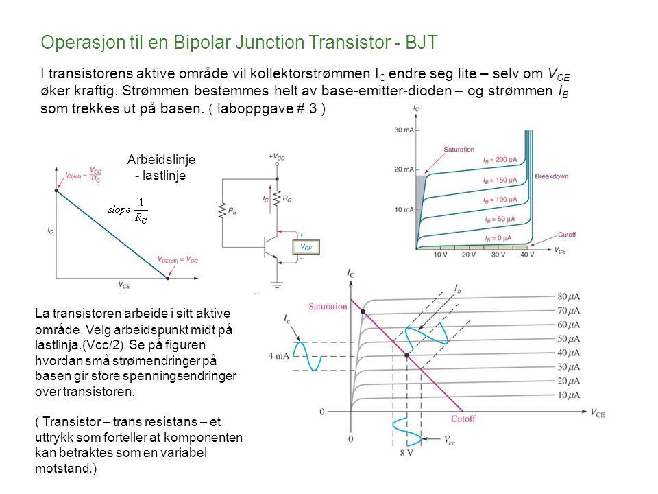 Operasjon til en Bipolar Junction Transistor - BJT