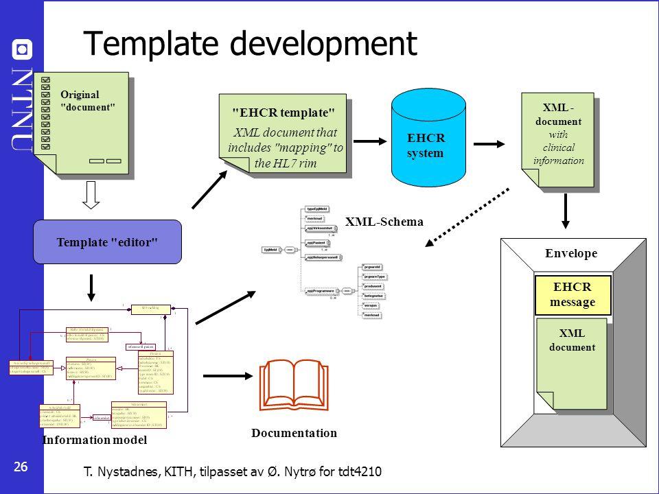  Template development EHCR template